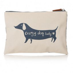 Shruti Designs Dog Make-up Pouch | Furry Friends by Lisa Buckridge