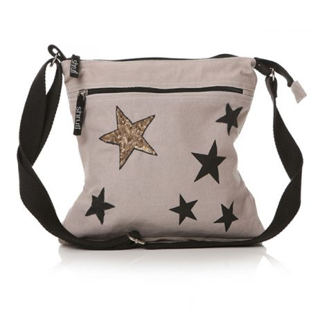 Shruti Designs Star Burst Cross Body Bag | Grey