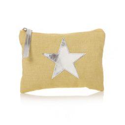 Shruti Designs Star Burst Khaki-Yellow Purse | Small Pouch