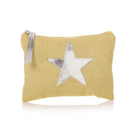 Shruti Designs Star Burst Khaki-Yellow Purse   Small Pouch