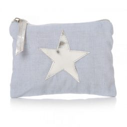 Shruti Designs Star Burst Cotton Blue Purse | Small Pouch
