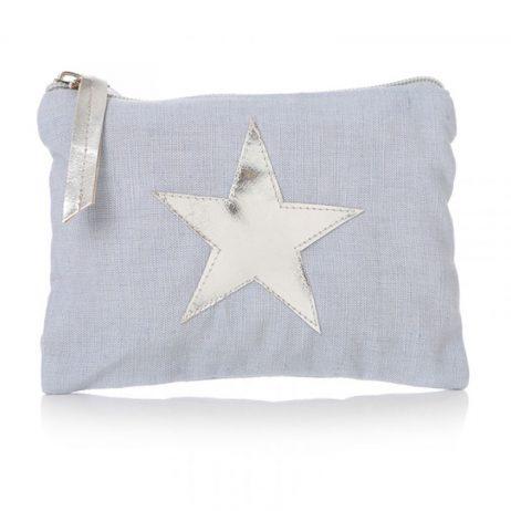 Shruti Designs Star Burst Cotton Blue Purse   Small Pouch
