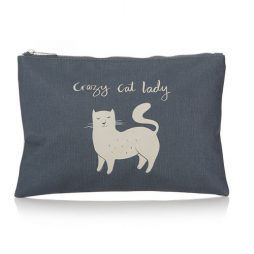 Shruti Designs Cat Make-up Pouch | Furry Friends by Lisa Buckridge