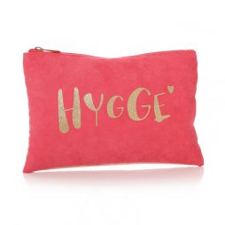 Shruti Designs Ta Da Hygge Cosmetic Bag Pouch | Pink and Gold