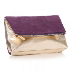 Shruti Designs Ta Da Star Clutch Bag Pouch | Purple and Gold 59359