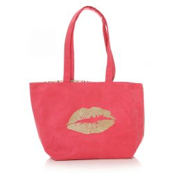 Shruti Designs Ta Da Lips Hot Pink Tote Bag By Lisa Buckridge