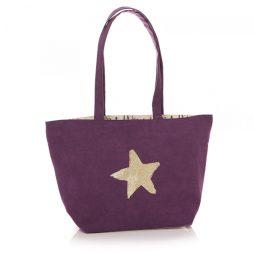 Shruti Designs Ta Da Star Purple Tote Bag By Lisa Buckridge