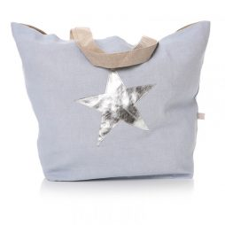 Shruti Designs Star Burst Shopper Bag | Cotton Blue