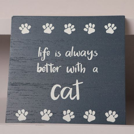 Shruti Designs Life Is Always Better With A Cat Coaster | Furry Friends by Lisa Buckridge