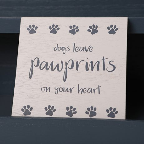 Shruti Designs Dogs Leave Pawprints on Your Heart Coaster | Furry Friends by Lisa Buckridge
