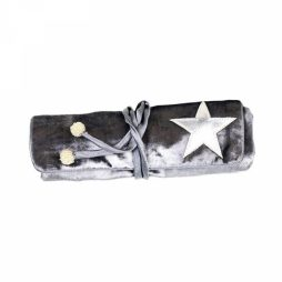Shruti Designs Ta Da Dark Grey Star Jewellery Roll By Lisa Buckridge