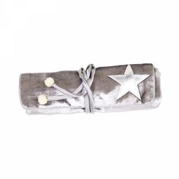 Shruti Designs Ta Da Light Grey Star Jewellery Roll By Lisa Buckridge