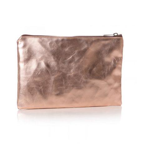 Shruti Designs Ta Da I Like Cosmetic Bag Pouch | Beige and Gold