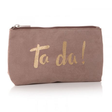 Shruti Designs Ta Da Cosmetic Wash Bag | Beige and Gold