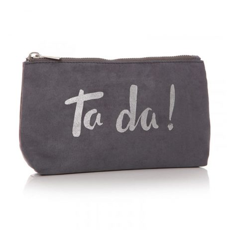 Shruti Designs Ta Da Cosmetic Wash Bag | Grey and Silver