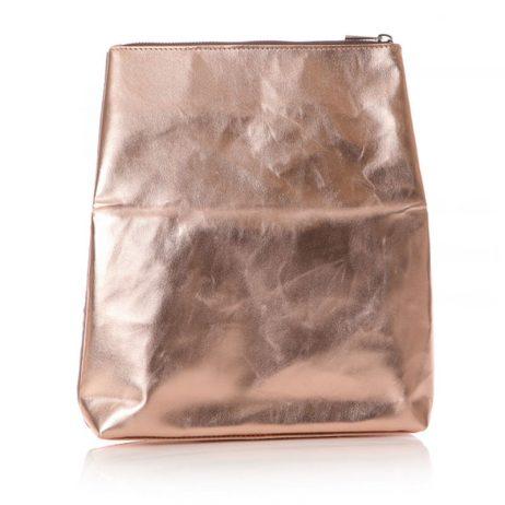Shruti Designs Ta Da Heart Clutch Bag Pouch   Beige and Gold
