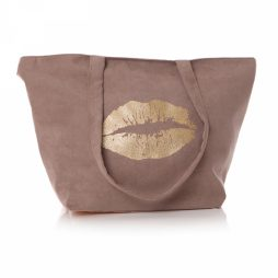 Shruti Designs Ta Da Lips Beige Tote Bag By Lisa Buckridge