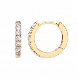 Estella Bartlett Hoop Earrings with CZ Gold Plated EB1957
