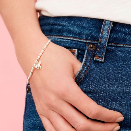 Estella Bartlett Silver Plated Sienna Bracelet with Unicorn Charm