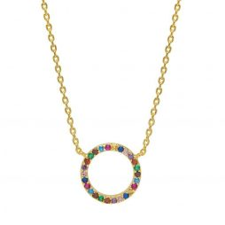 Estella Bartlett Rainbow Circle Gold Plated Necklace EB3444C
