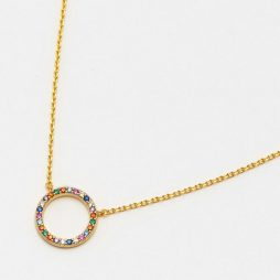 Estella Bartlett Rainbow Circle Gold Plated Necklace EB3444C *
