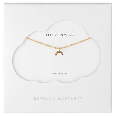 Estella Bartlett Mini Rainbow Gold Plated Necklace EB3446C