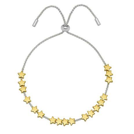Estella Bartlett Gold and Silver Plated Stars So Bright Slider Bracelet *