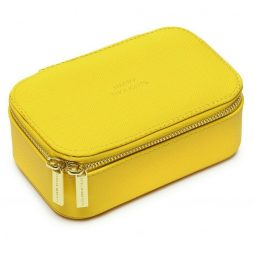 Estella Bartlett Yellow Mini Jewellery Box Happy Thoughts - Personalised