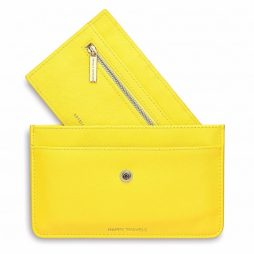 Estella Bartlett Travel Document Wallet Yellow | Happy Travels EBP2386