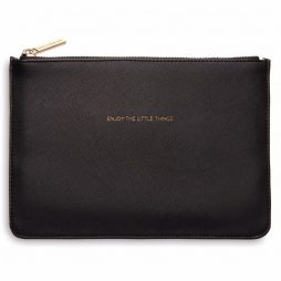 Personalised Estella Bartlett Enjoy The Little Things Black Pouch