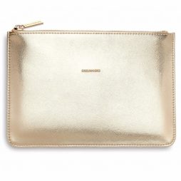 Personalised Estella Bartlett Dream Big Gold Pouch | Clutch Bag