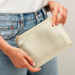Estella Bartlett Dream Big Gold Pouch | Clutch Bag