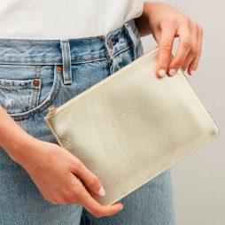 Estella Bartlett Dream Big Gold Pouch   Clutch Bag