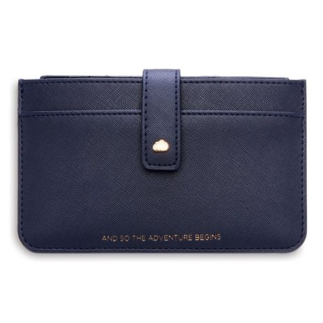 Estella Bartlett And So The Adventure Begins Navy Travel Document Wallet