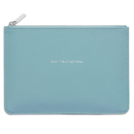 Estella Bartlett Enjoy The Little Things Sky Blue Pouch