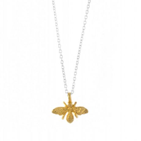 Hultquist Jewellery Bee Necklace Sterling Silver 18K Gold Plated S03009G