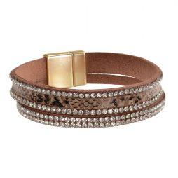 Hot Tomato Jewellery Animal Print Crystal Bracelet