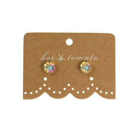 Hot Tomato Jewellery Little Miss Crystal Studs | Clear