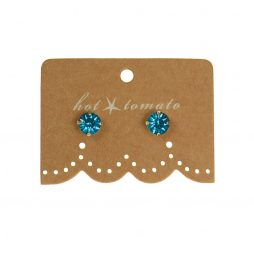 Hot Tomato Jewellery Little Miss Crystal Studs | Blue Zircon