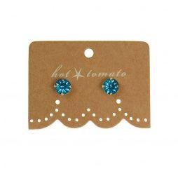 Hot Tomato Jewellery Little Miss Crystal Studs | Blue Zircon