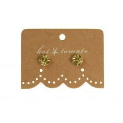 Hot Tomato Jewellery Little Miss Crystal Studs | Citrine
