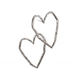 Hot Tomato Jewellery Silver Heart Earrings