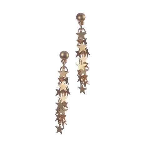 Hot Tomato Jewellery Starline Cascade Gold Drop Earrings