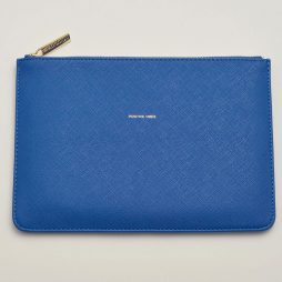 Personalised Estella Bartlett Positive Vibes Royal Blue Pouch