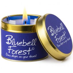 Lily-Flame Bluebell Scented Gift Candle Tin 1blu