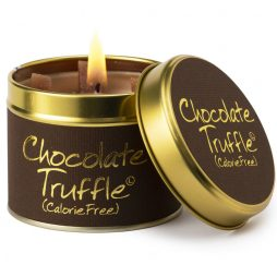 Lily-Flame Chocolate Truffle Scented Gift Candle Tin 1cho