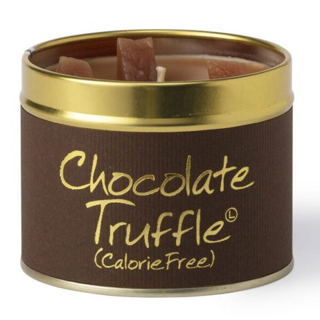 Lily-Flame Chocolate Truffle Scented Gift Candle Tin