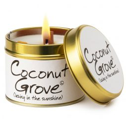 Lily-Flame Coconut Grove Scented Gift Candle Tin 1coc