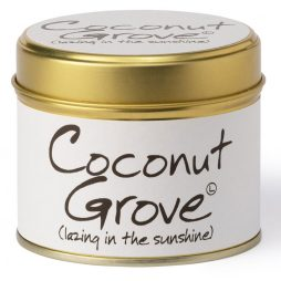 Lily-Flame Coconut Grove Scented Gift Candle Tin