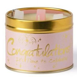 Lily-Flame Congratulations Scented Gift Candle Tin